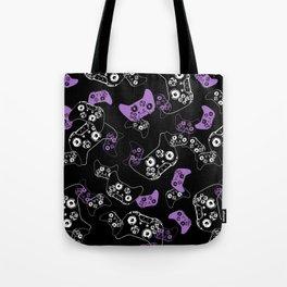 Video Game Lavender and Black Tote Bag