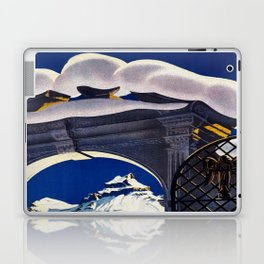 Vintage Engelberg Switzerland Travel Laptop & iPad Skin
