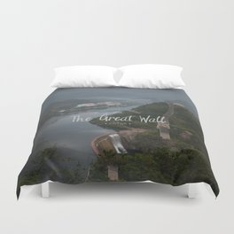 A different view of The Great Wall of China Duvet Cover