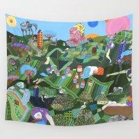 giants Wall Tapestries featuring Sleeping Giants by Valeriya Volkova
