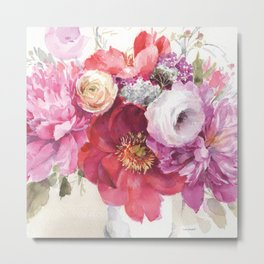 Obviously Pink Bouquet Metal Print