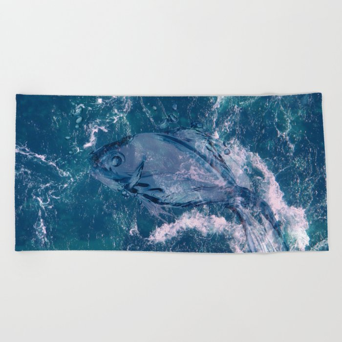 Sea fish Beach Towel