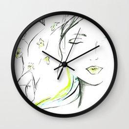 Strongest Flower Wall Clock