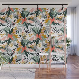 Botanical brush strokes I Wall Mural