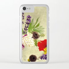 Garden weeds little helpers from nature Clear iPhone Case