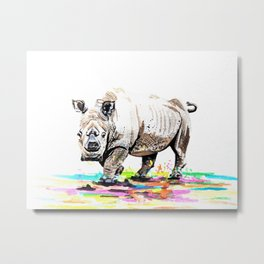 Sudan the last male northern white rhino Metal Print