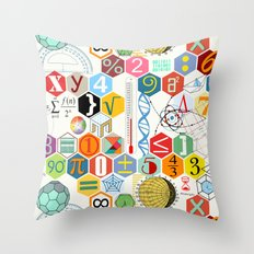 Math in color (white Background) Throw Pillow
