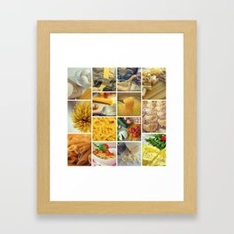 Collage Pasta food Framed Art Print