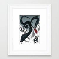 skyrim Framed Art Prints featuring SKYRIM by tarmasz