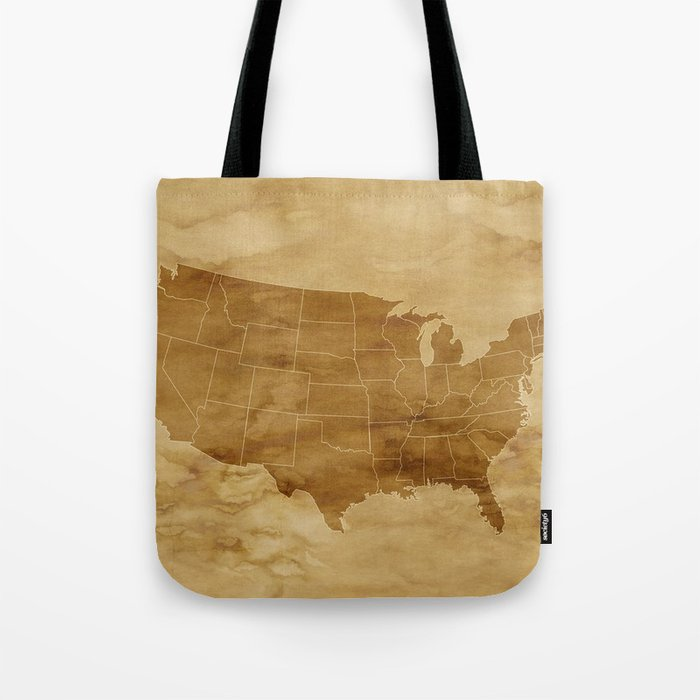 United States USA Vintage Map Tote Bag