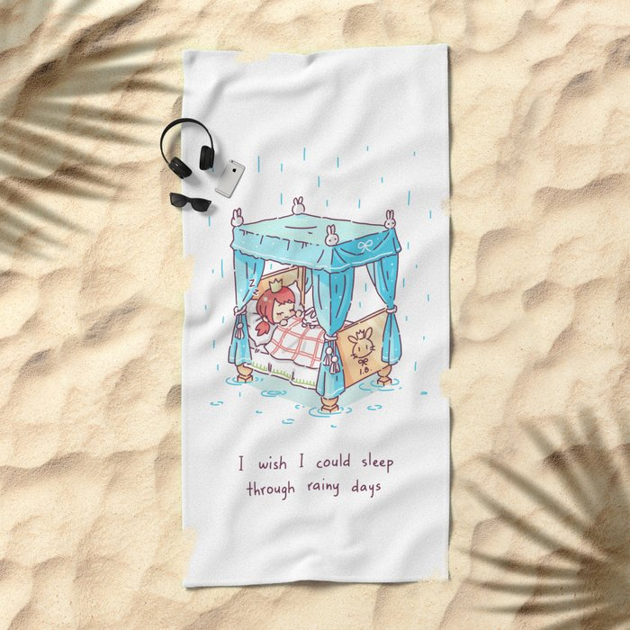 Rainy Days 2 Beach Towel