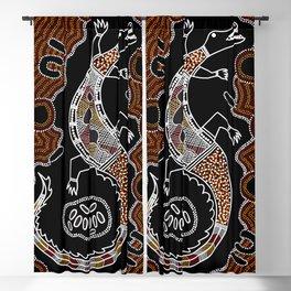 Crocodile - Authentic Aboriginal Art Blackout Curtain
