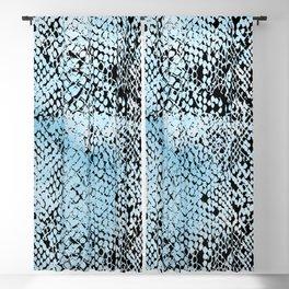 Snake Skin Blue Watercolor Blackout Curtain