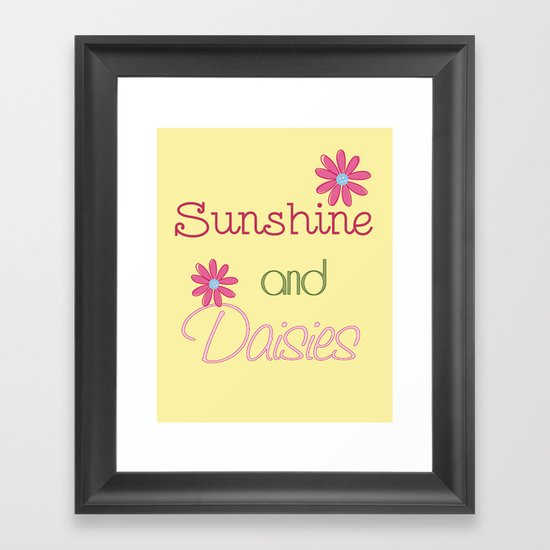 Sunshine and Daisies Framed Art Print