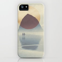 Haystack Rock of Cannon Beach, Oregon iPhone Case