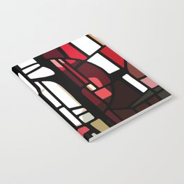Red Stained Glass Notebook
