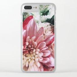 Glitter Bouquet Clear iPhone Case