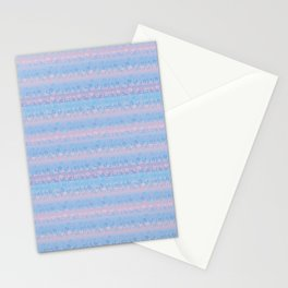 pink and blue gradient flowers Stationery Cards