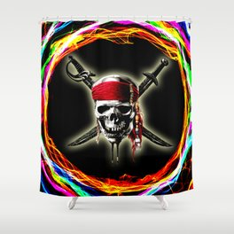 skull of pirates Shower Curtain