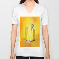 kittens V-neck T-shirts featuring KITTENS by I Love Decor