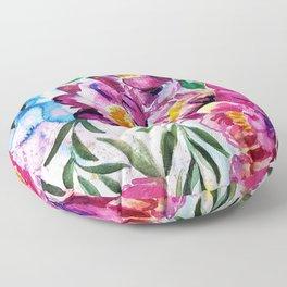 Tree peonies watercolor Floor Pillow