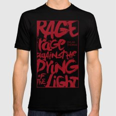 Rage Against the Dying of the Light 2 Mens Fitted Tee Black SMALL