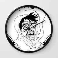wasted rita Wall Clocks featuring Wasted by derekpants