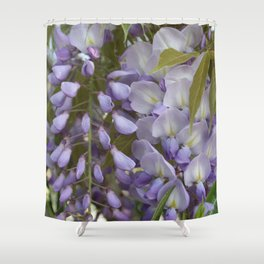 Wisteria Petals and Leaves Shower Curtain
