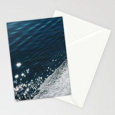 sea - midnight blue silk Stationery Cards