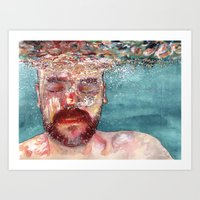 watercolour Art Prints featuring Watercolour by Jose Manuel Hortelano-Pi
