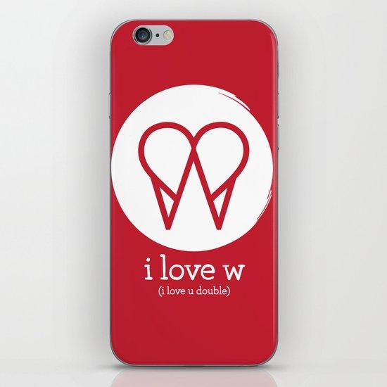I Love W iPhone & iPod Skin