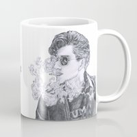 alex turner Mugs featuring Alex Turner by Anja-Catharina