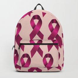 Satin pink ribbon Backpack