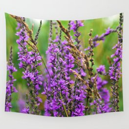 Pink Summer Meadow Wall Tapestry
