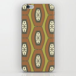 Midcentury Funky Chain Chartreuse iPhone Skin
