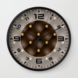 Luxury Tufted Gold Diamond 1 Wall Clock