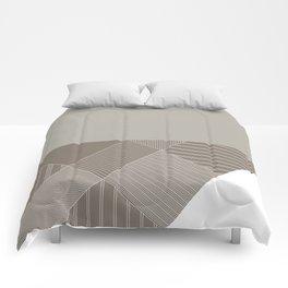 Minimal Trangles Beige Comforters