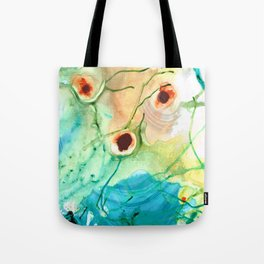 Blue And Yellow Abstract Art - Life Goes On - Sharon Cummings Tote Bag