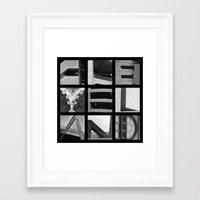 cleveland Framed Art Prints featuring CLEVELAND by Christina Sadowski