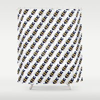bee Shower Curtains featuring BEE by Brittany Lara Castaldo
