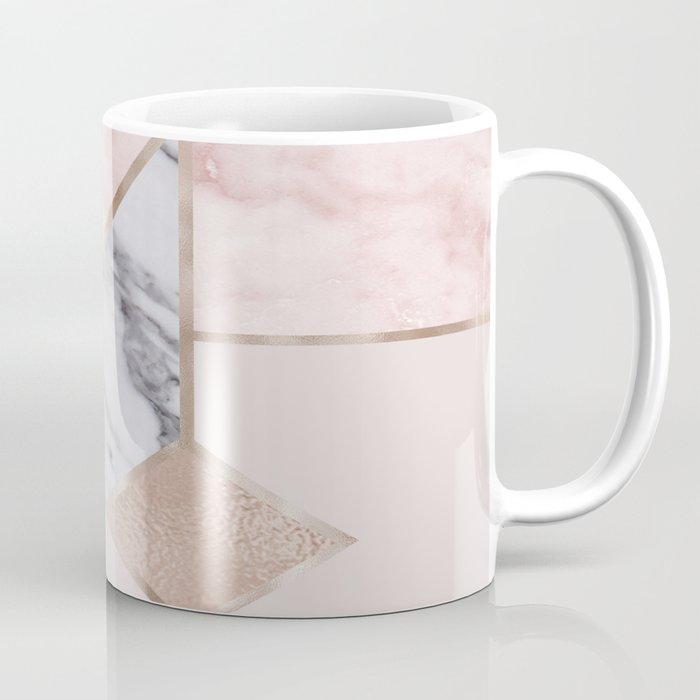 Geometric mix up - rose gold Coffee Mug