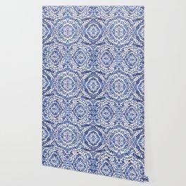Abstract Indigo Pattern No.1 Wallpaper