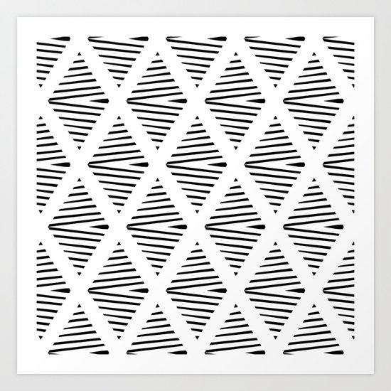 BW Pattern Art Print