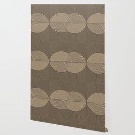 Minimal Tropical Leaves Pastel Beige Wallpaper