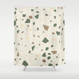 Sage Cactus Green Tan Brown Terrazzo #1 #decor #art #society6 Shower Curtain