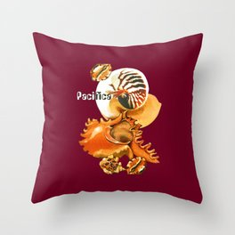 Pacifica 1 - South Pacific Seashells Throw Pillow