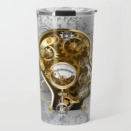 Steampunk Head with Manometer Travel Mug