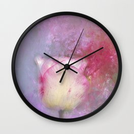 Spring Tulip Impression Wall Clock
