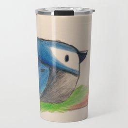 Blue jay on branch Travel Mug