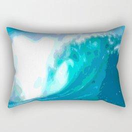 poster paint wave modern home design Rectangular Pillow